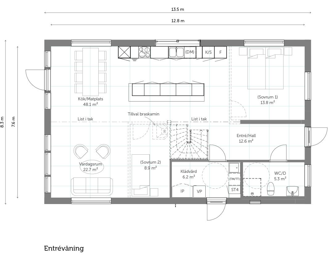 Entrévåning Stil 163 – Landskap